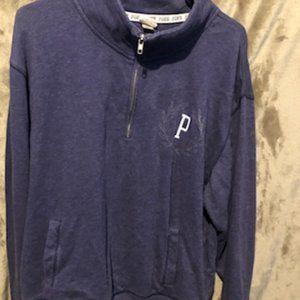 Purple/Blue Victoria Secret 3/4 Zip Up Sweater